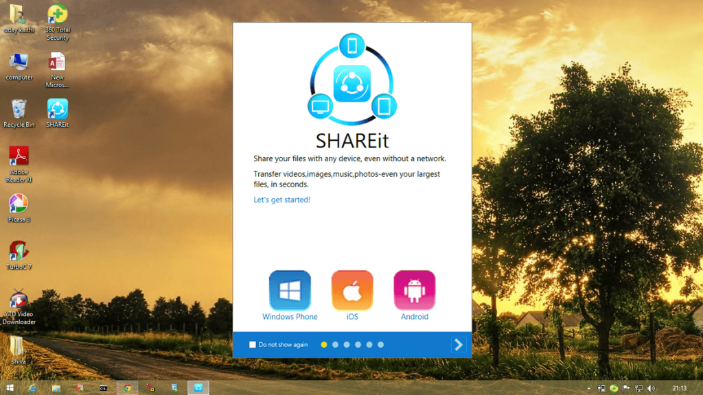 Official Shareit For Pc Download Windows 7 8 8 1 Technoven